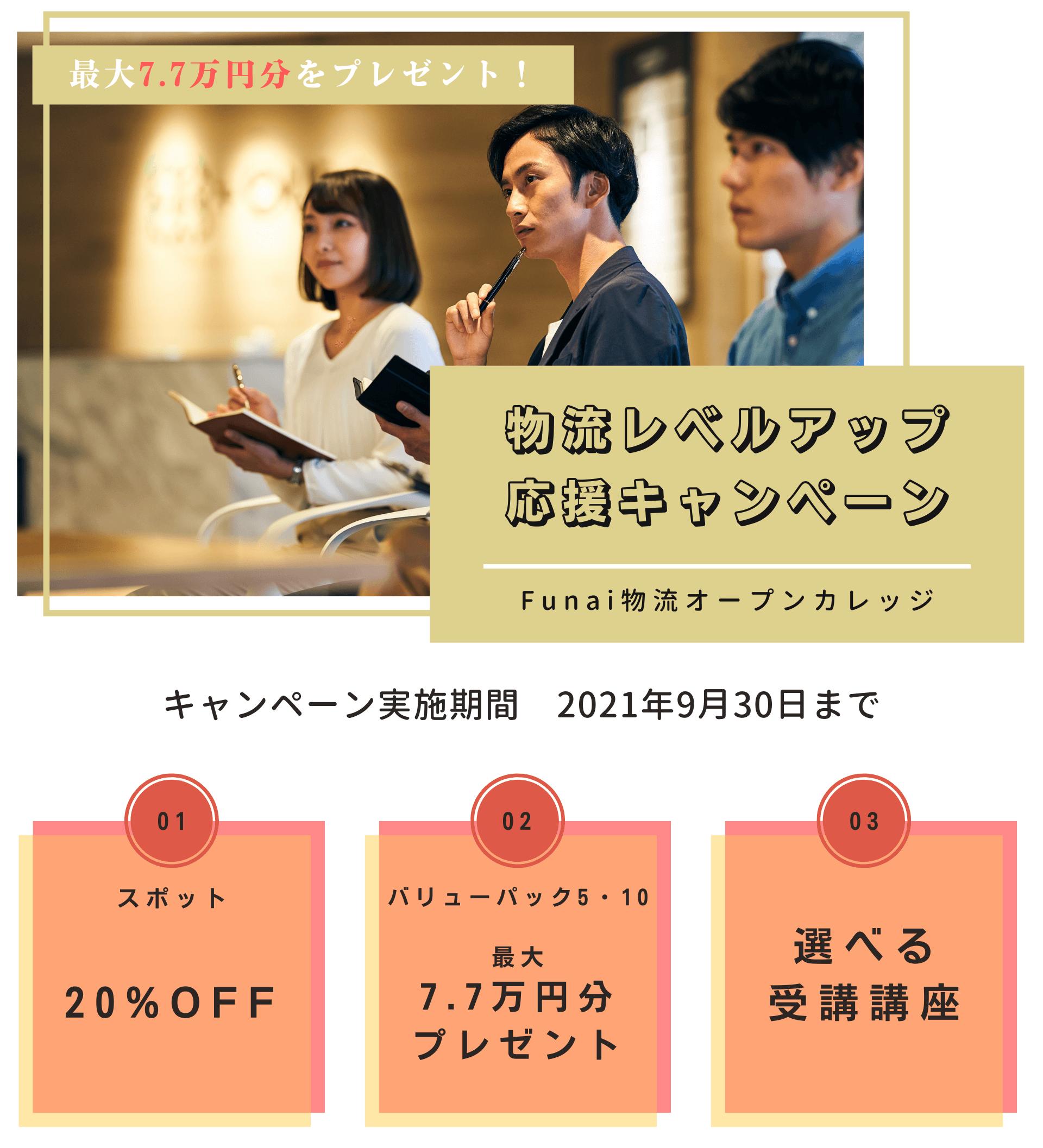 2021年物流レベルアップ応援キャンペーン(Funai物流オープンカレッジ)